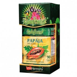 KOMPLETNÍ SORTIMENT - RainForest® Papája, směs enzymů 45 mg - 90 cumlavých tbl.