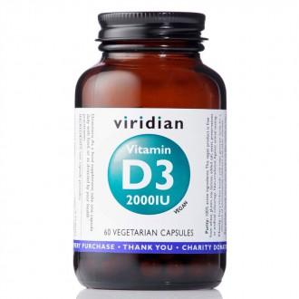 KOMPLETNÍ SORTIMENT - Viridian Vitamin D3 2000IU 60 kapslí