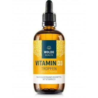 KOMPLETNÍ SORTIMENT - Woldohealth Vitamin D3 Kapky ( 2000 I.U. ) 50 ML