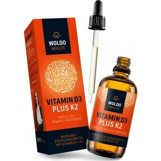 KOMPLETNÍ SORTIMENT - WoldoHealth Vitamin D3 + K2 Kapky ( 1000 I.U. )
