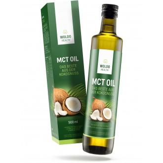 KOMPLETNÍ SORTIMENT - Woldohealth MCT olej 500 ML ( 100% KOKOSOVÉHO OLEJE)