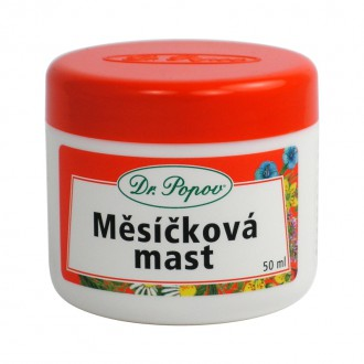BYLINNÉ MASTI - Dr. Popov Měsíčková mast 50 ml.