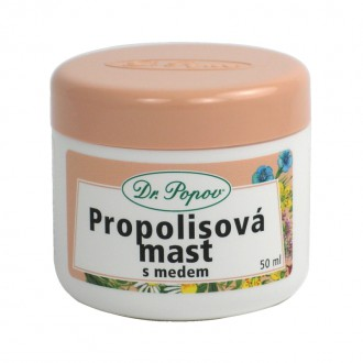 BYLINNÉ MASTI - Dr. Popov Propolisová mast s medem 50 ml.