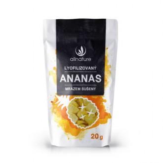 KOMPLETNÍ SORTIMENT - Allnature Ananas sušený mrazem kousky 20 g