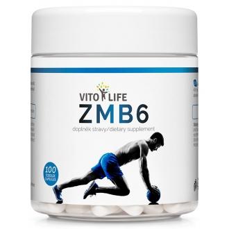KOMPLETNÍ SORTIMENT - VITO LIFE - ZMB6 (ZMA - Zinek, Magnesium, Vitamín B6) 100 cps