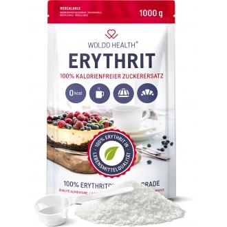 KOMPLETNÍ SORTIMENT - Woldohealth Erythritol (Alternativní cukr) 1.000g  včetně dávkovací lžíce