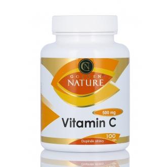 KOMPLETNÍ SORTIMENT - Golden Nature Vitamin C 500mg 100 cps.