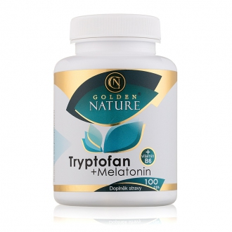 KOMPLETNÍ SORTIMENT - Golden Nature Tryptofan+Melatonin+B6 100 cps.