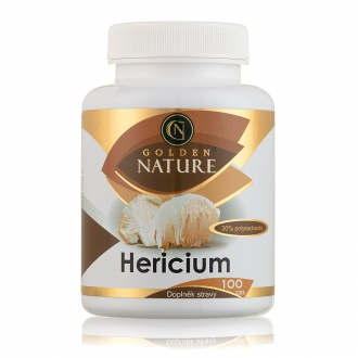 KOMPLETNÍ SORTIMENT - Golden Nature Hericium 30% polysacharidů 100 cps.