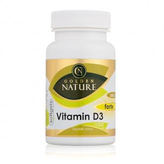 KOMPLETNÍ SORTIMENT - Golden Nature Vitamin D3 2000 I.U. SOFTGELS 100 cps.