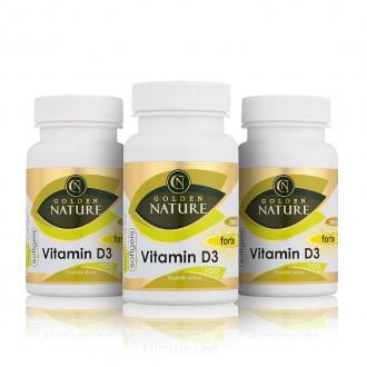 KOMPLETNÍ SORTIMENT - 2+1 Golden Nature Vitamin D3 2000 I.U. SOFTGELS 300 cps.