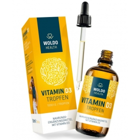 Woldohealth Vitamin D3 Kapky ( 1000 I.U. ) 50 ML