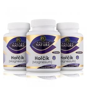 2+1 Golden Nature Magnesium (Hořčík) Chelate+Vitamin B6 300 cps.