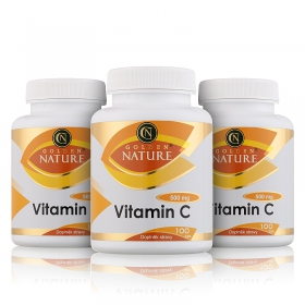 2+1 Golden Nature Vitamin C 500mg 300 cps.