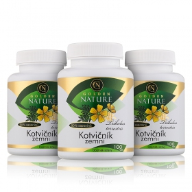 2+1 Golden Nature Kotvičník zemní 90% saponinu 300 cps.